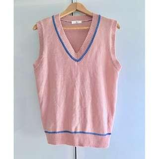 $5 SALE: Knit Pink Vest Top (do you see this marked sold? no. then OBVIOUSLY ITS AVAILABLE)