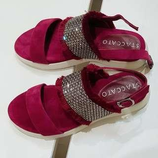 PROMO - STACCATO BURGUNDY SANDALS