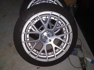 "20"" expensive forged rims + tyres"