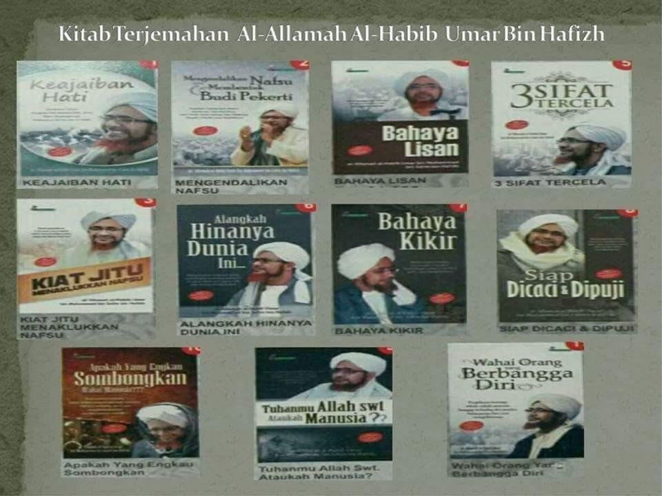 1 set ( 11 kitab )  Kitab Terjemahan Al- Allamah al-Habib 'Umar bin Muhammad bin Salim bin Hafiz.