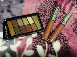Colourpop liquid lipstick & Wet&Wild eyeshadows
