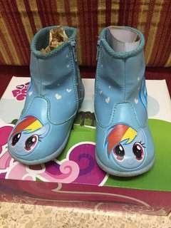 Sepatu Boots Anak little pony biru Size 23