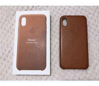 Iphone X Leather Case in Brown