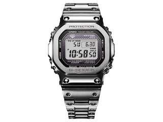 100% Authentic New Casio G-Shock Silver full metal bracelet GMW-B5000D-1 Watch full set. Made in Japan with Casio Singapore warranty