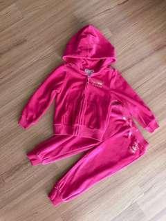 New Juicy Couture velour hoodie & pant set