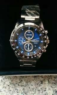(NEW)(全新)Seiko Criteria Chronograph Stainless Steel Men's Watch SNDF57P1