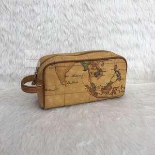 Alviero Martini Clutch Bag malaysian maps