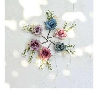 Faux Flower Pins