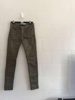 STRADIVARIUS Army Green Skinny Jeans