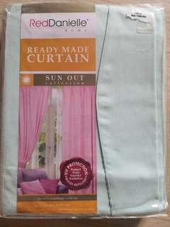 Curtain Readymade Sun Out Red Danielle Curtain