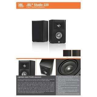 "JBL STUDIO 220  AWARD WINNER STYLISH 2-WAY 4"" BOOKSHELF SPEAKERS DESIGNED & ENGINEERED IN U.S.A  W/ 1 YEAR AGENT WARRANTY  (PAYMENT AFTER DELIVERY)"