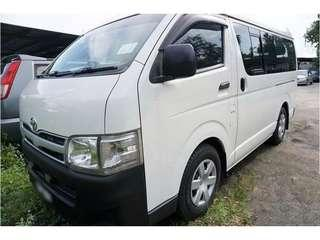 Toyota Hi ace For Rent Monthly