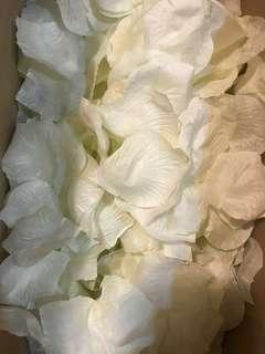 假花瓣 米白色 不黏手
