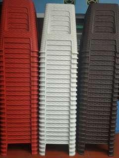 Kursi bangku motif anyam merk Olymplast (Olympic Plastic)