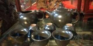 🚚 日本茶具組 金剛土一壺 六杯 一茶海 清倉庫