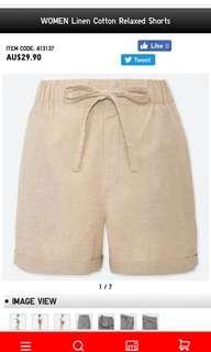 Linen summer shorts