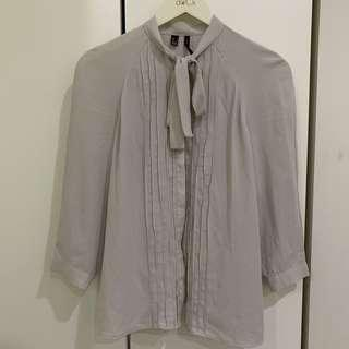 MNG Grey Blouse