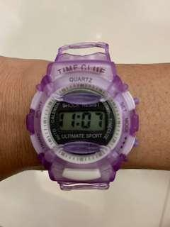 Quartz rubber watch