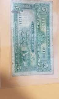 $5 The government of the straits settlement