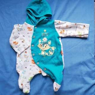 Sleepsuit with hood