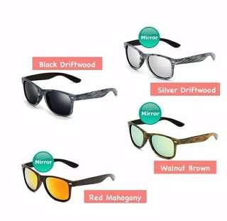 Anti UV sunglasses-motif kayu