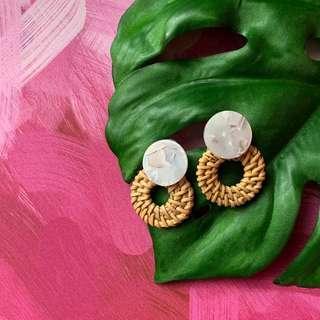 Marble Purple Earrings