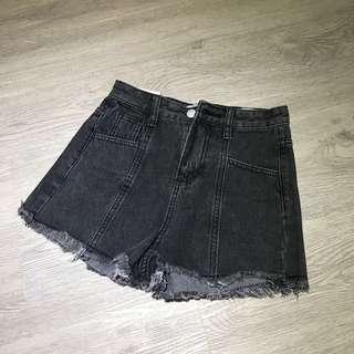 全新 百搭灰黑色 牛仔 高腰褲