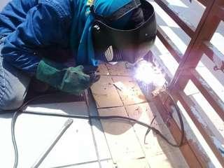 Baiki welding pagar grill kunci
