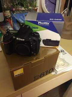 Nikon d610 全新一cut都沒按過 連電池都沒裝 含一顆鏡頭