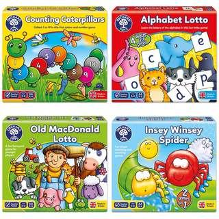 Brand new Orchard Toys - classic educational board games