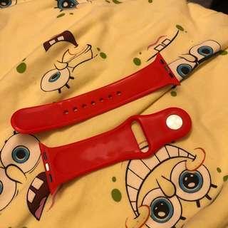 I watch 2 錶帶 鮮紅色 42mm