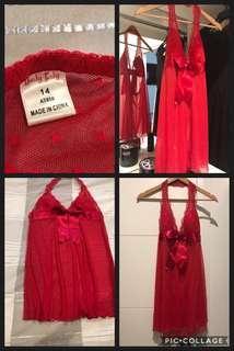 Beautiful Rich Red Lace Nighty
