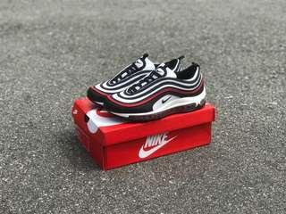 AIRMAX 97 BLACK WHITE RED