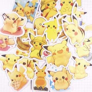 Pika Pika Pikachu Scrapbook / Planner Stickers #338