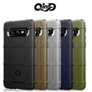 QinD SAMSUNG Galaxy S10+ 戰術護盾保護套