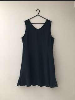 Black lining dress
