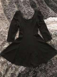 [ brand new ] black flare dress