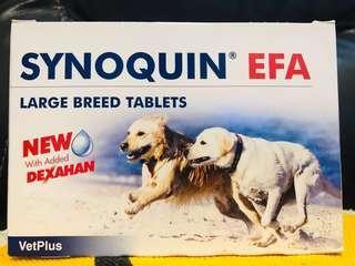 VetPlus Synoquin® EFA 25公斤以上大型犬隻關節補充肉味粒裝 (30粒)