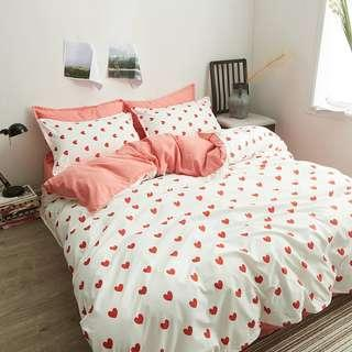 Cotton Bedding Set Love Love