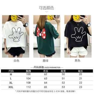 🚚 13衣衫小舗🎀M-2XL韓版寬鬆印花短袖T恤女裝/3色/A359