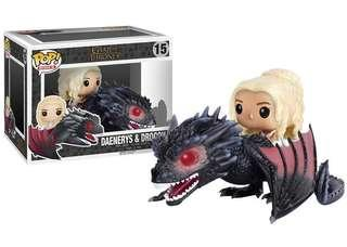 Daenerys and Drogon GAME OF THRONES FUNKO
