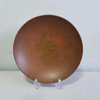 Code215: wooden shallow soup plate