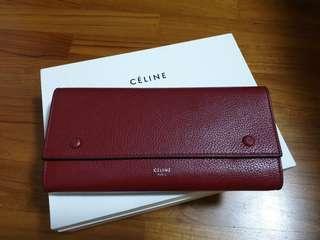 Celine # long wallet #Large Flap Multifunction Wallet #longwallet #fullset #celine #wallet #pristine