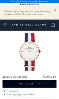 Daniel Wellington Gold Watch