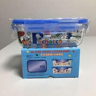 全新 pc狗 pochacco 玻璃飯盒