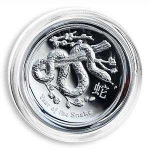 澳洲蛇年 1 安士高浮雕精製銀幣 Australian 2013 Year of the Snake 1oz Silver High Relief Coin