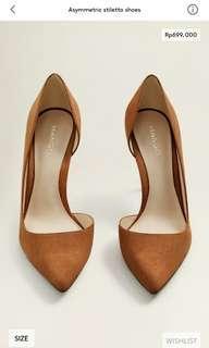 Asymmetric stiletto shoes woman mango original