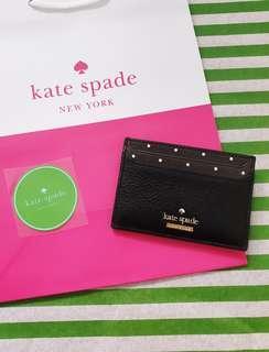 🚚 Kate Spade Polka Dots Blake Street Dot Lynleigh Card Holder (Extremely Rare Color!)