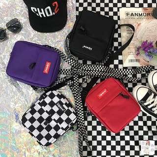 [PO] Ulzzang Sling bag Checkered strap / Checkered bag