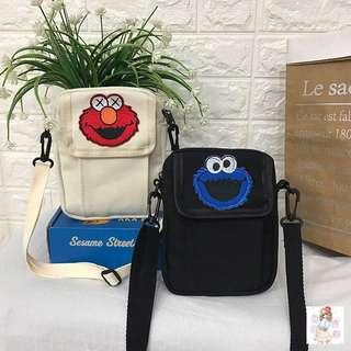 🚚 [PO] Retro Elmo / Cookie Monster Mini Sling Bag